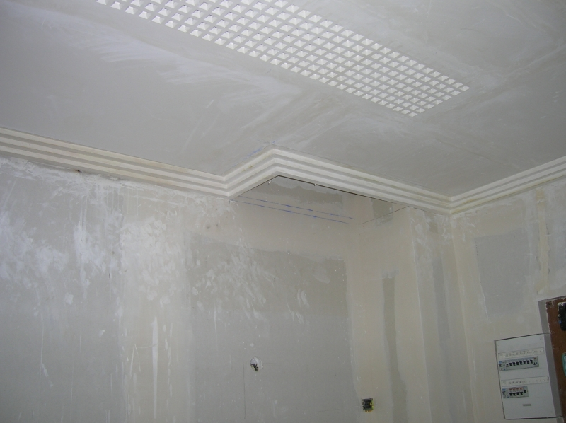 Staff plafond corniche paris meaux torcy seine et marne 77 for Realisation faux plafond decoratif